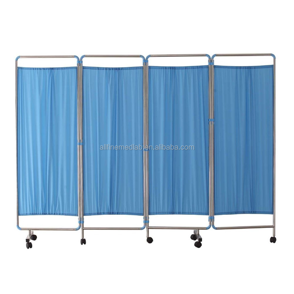 Cheap hospital ward room folding screen room divider 4 panels