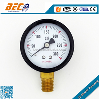 High quality 2 inch black steel case double needle pressure gauge with bottom mounting