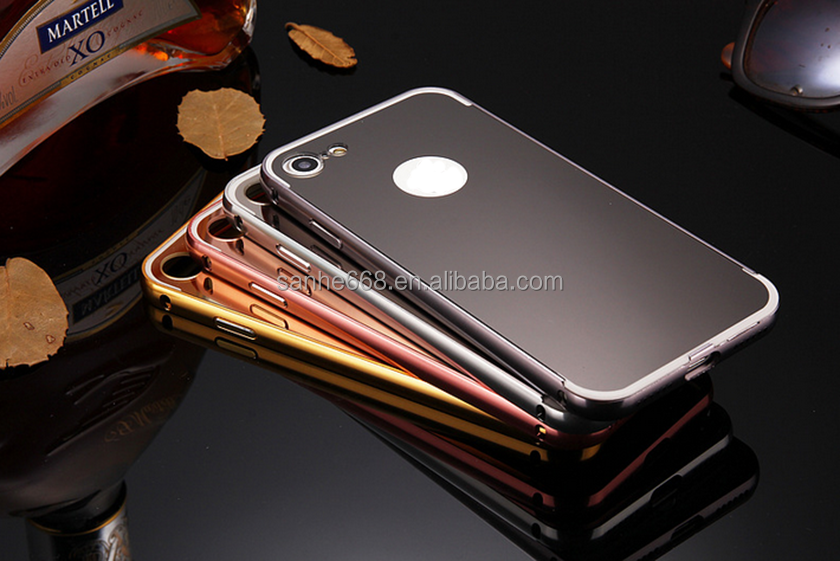 bulk buy from china phone case manufacturing metal pc cell phone case with mirror cover for iphone7 plus