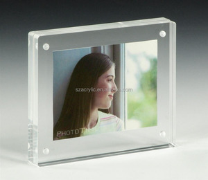 Custom new style clear Lucite Plastic Acrylic magnet Picture Photo Frame