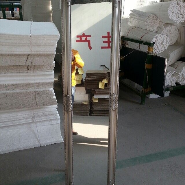 Cheval Thin Profile Floor Standing Mirror in Silver