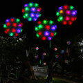 Solar Powered Outdoor Christmas Lights Solar Rose Ball Festive Light