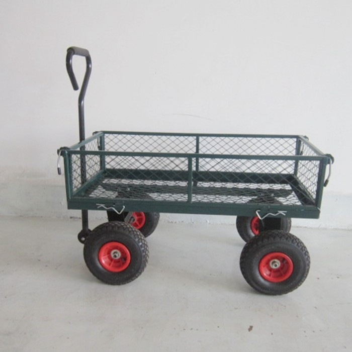 DROP DOWN MESH SIDES *SPECIAL OFFER* LARGE METAL 4 WHEEL GARDEN CART