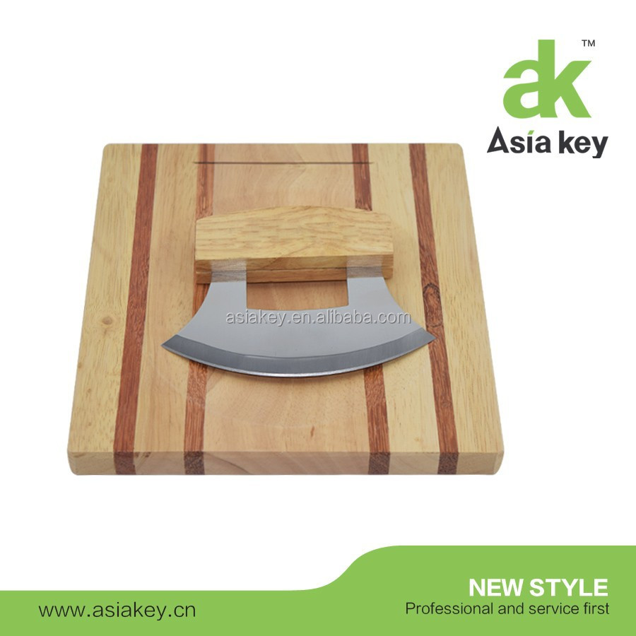 ULU knife for cutting vegetable slicing tool with cutting board