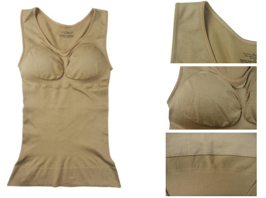 As seen on TV Women Seamless Nude Tank Top Body Shaper With Removable Pads