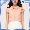 wholesale custom new models designs loose sleeves fashion chiffon shirts blouse for women