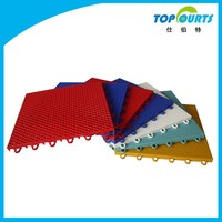 Outdoor interlocking flooring / tennis court interlocking tile / outdoor pp sports flooring