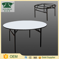 Fashion style folding round wooden dining table and chair
