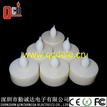 Flameless yellow flicker Battery plastic LED Tea Light