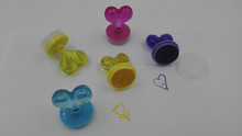 ABS material love heart shape kid stamp