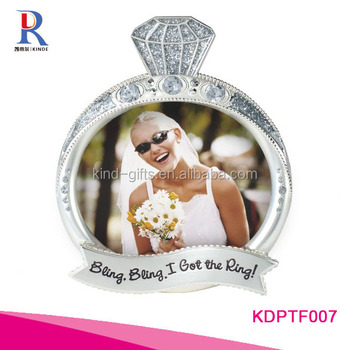 Malden International Designs Wedding rhinestone and Glitter Unique Bling Bling Ring Picture Frame
