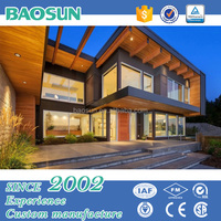 Wood/Light gauge steel luxury prefab villa customized design with UL/CSA/AUS standard