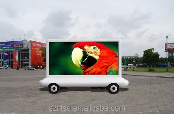 Professional outdoor led xxx moving screen/mobile led display trailer moving bus advertising led display