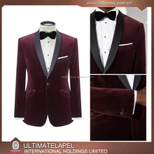 2016 Top quality cheap mens Maroon wedding suit with good quality