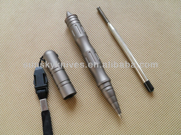 Black/brown anodized aluminum pen
