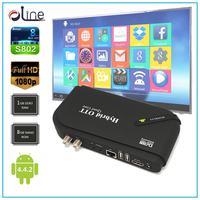 High speed Amlogic S805 CPU Android 4.4.2 OS DVB S2 Android tv box multi channel digital satellite receiver decoder