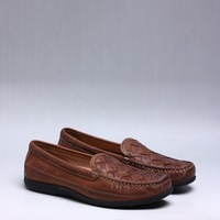 2015 wholesale fujian fashion Eva 100% genuine leather brand name mens loafers C006