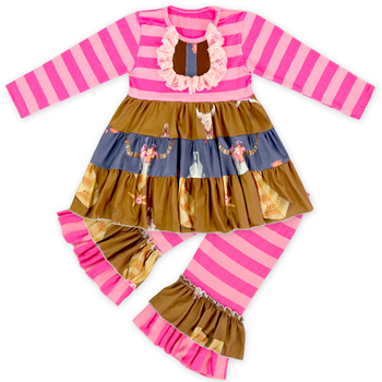Baby Girls Two Pieces Fall Boutique Clothes Set Cheap Baby Back To School Boutique Outfits