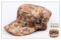 Fashionable Solid Color Unisex Fitted Army Military Cadet Cap