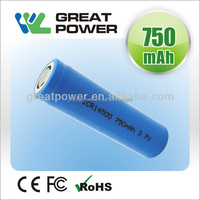 3.7v 750mah 14500 rechargeable li-ion battery and 3.7V 750mah battery lithium ion for E-Cig