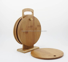 "With shelf Wooden Utensils, Extra Large 18""x12"" Organic Bamboo Cutting Board 