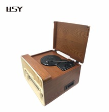 2017 new arrive vintage radio turntable vinyl record player with cassette,usb,sd