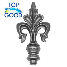 Q235 gardening wrought iron fence finials