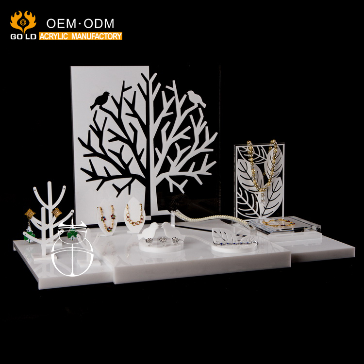 custom fashion design desktop acrylic jewelry display for jewelry