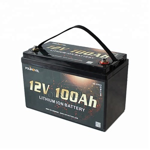 Polinovel super long quality warranty lithium battery 12v 100ah for solar RV marine application