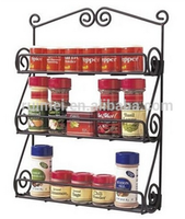 Wall Mounted Metal Restaurant Spice Rack