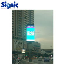Digital 3G control Light Pole Banners P6 Street Pole outdoor led advertising display