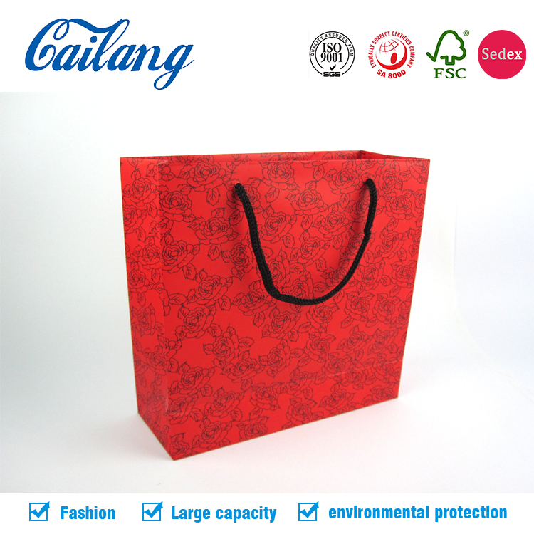 Custom printing luxury paper shopping bag shoes packaging bags