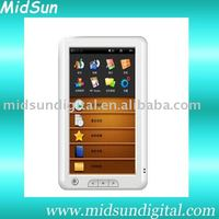 7 inch TFT touch screen mid electronic book with WIFI Record FM function and 3G optional