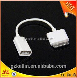 2015 new hot selling usb otg cable for ipad mini/iphone 5/apple