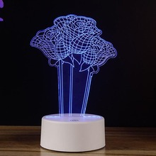 7 Color Changing Lights Roses Lamp Touch Night Light For Home Decoration or Xmas Birthday Gift