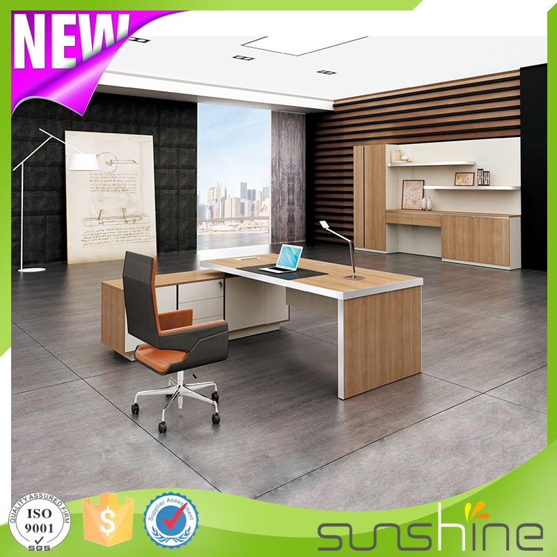 China furniture factory Sunshine furniture makes luxury thicken material office desk commercial BS-D2410 for you