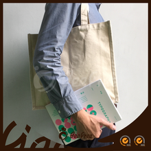 Hot Selling Handmade Natural Custom Printed Blank Standard Size Cotton Canvas Tote Shopping Bag