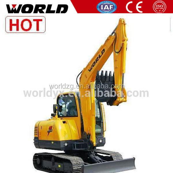 long boom 6 ton hydraulic chain drive excavator machine for sale