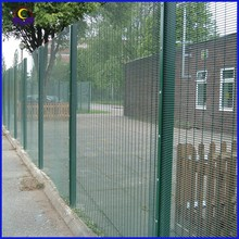 Top Quality pvc coated airport 358 anti-climb fence for security