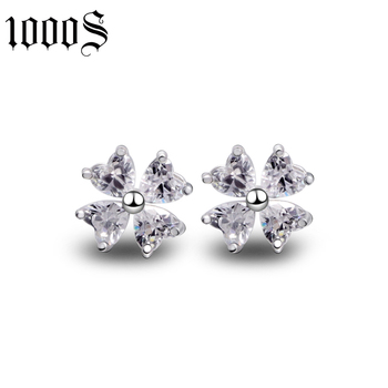 customized size rose gold plating zircon stone stud earring for gift