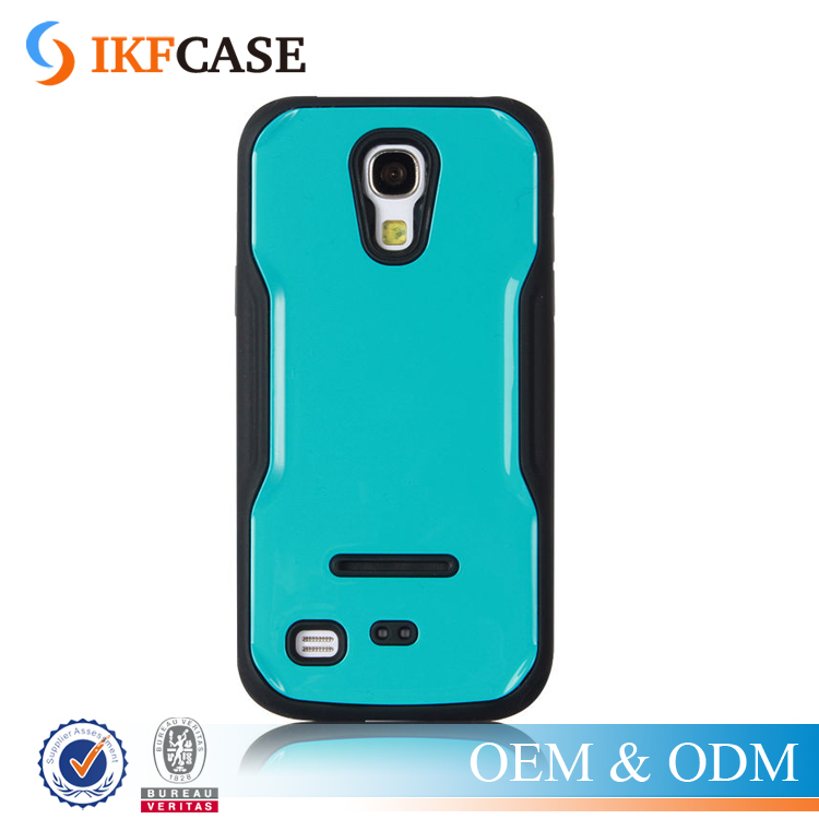 Kickstand TPU PC Combo Protective Phone Case for Samsung Galaxy S4 Mini i9190