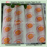 Wax Coated Hamburger Wrapping Paper