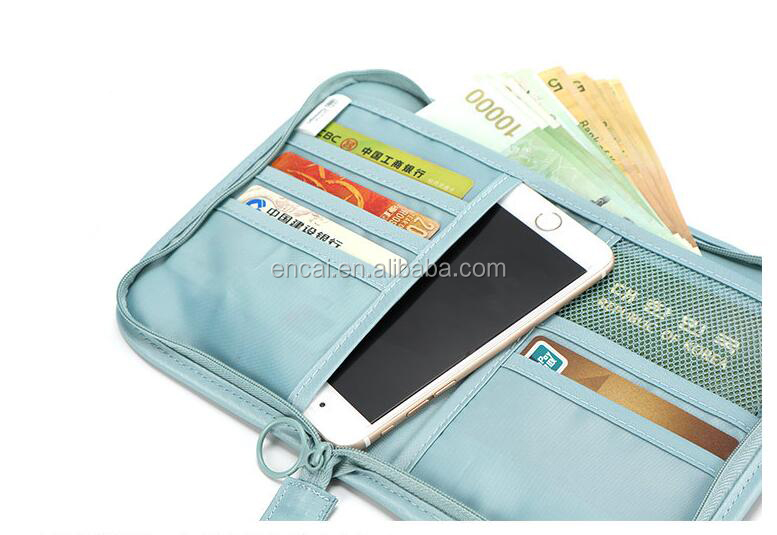 Encai Solid Color Travel Passport Bags Cards Passport Holder