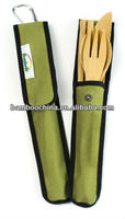 bamboo knife fork spoon for tourist