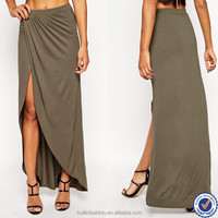 garments export agents fashion women divided wrap maxi skirt long