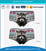 JMZ womens underwear all digital printing cat design printing underwear