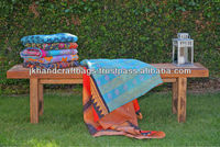 Vintage Kantha Quilts Handmade Sari Throw