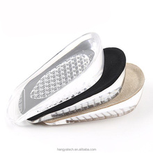 All-match Auto-stick silicone heel cushion insoles for shoe comfort height increase silica insoles gel foot cushions