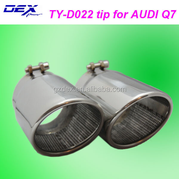 auto accessories racing decorate exhaust muffler tip for A-udi Q7
