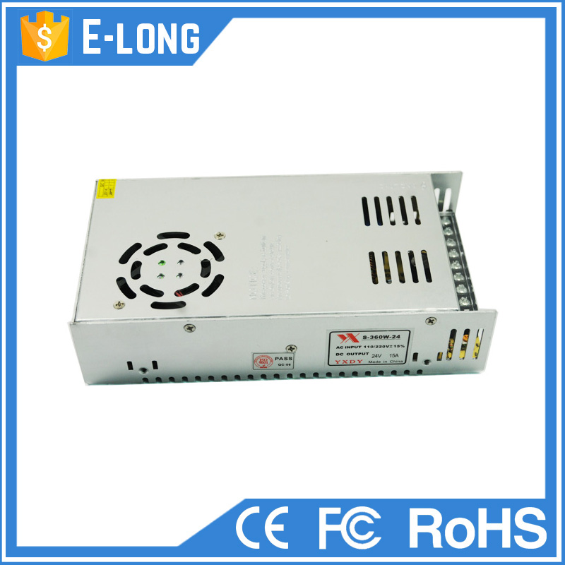 24v 15a 360w power switching adapter electrical power supply for LED